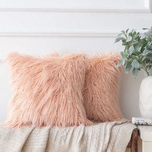 Throw Pillow Decorative Case Faux Fur